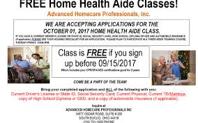 health class online high school free home health aide classes by advanced homecare professionals