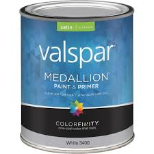valspar medallion 100 acrylic paint u0026 primer satin interior wall