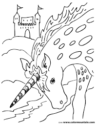 unicorn coloring page create a printout or activity