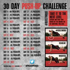 30 day push up challenge let u0027s do this gotta get my fitness and