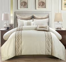 bedroom monte carlo ivory gold comforter set by kinglinen for