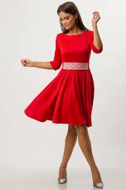 rochii de zi rochie de zi rosie cu brau brodat cbm1261 boemurban ro