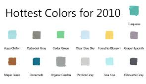 what is the hottest color the hottest paint colors of 2010