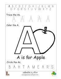 collections of letter recognition worksheets for kindergarten