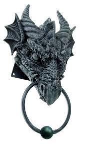 9 25 inch gargoyle dragon door knocker resin statue figurine