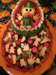 camo boy fruit tray baby shower fruit pinterest trays boys