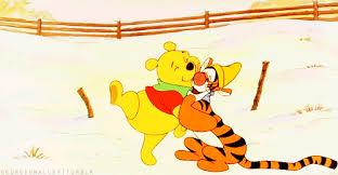 friend hug gif snow cartoon pooh discover u0026 share gifs