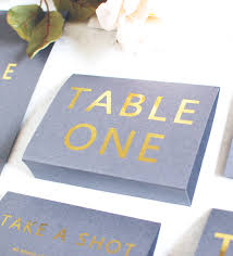 gold wedding table numbers grey and gold wedding table name number free standing by made with