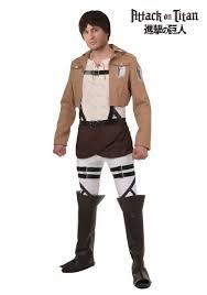 halloween costumes ca attack on titan eren costume walmart com