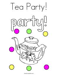 tea party coloring twisty noodle