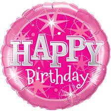 happy birthday balloon 36 mega pink happy birthday foil balloon
