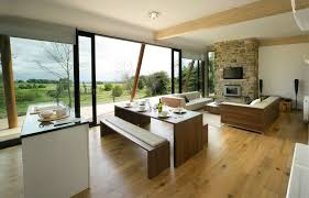 Combined Living And Dining Room Kitchen Lovely Kitchen Dining Room Design Ideas With Long Wood