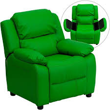 Youth Recliner Chairs Deluxe Padded Contemporary Green Kids Recliner D Bt 7985 Kid