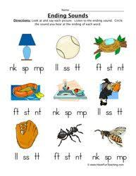 phonics final consonant blends worksheets google search