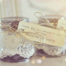 tea party favor mason jar filled with packets of different kinds