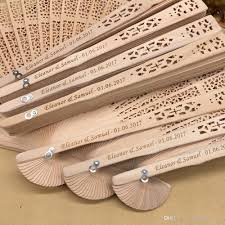 personalized folding fans 2018 2018 in bulk personalized wood wedding favours fan party give