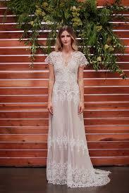 Wedding Dress With Train Azalea Boho Cotton Lace Wedding Dress Dreamers And Lovers