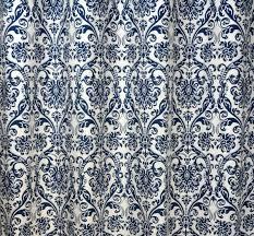 amazon com navy blue and white damask drape one rod pocket