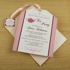 tea bag invitations templates
