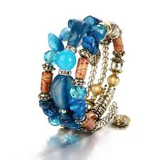 fashion stone bracelet images Boho multilayer resin stone bracelet amp bangles woman vintage jpg