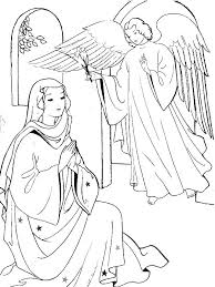 coloring page angel visits joseph mary and joseph coloring pages and outline advent coloring pages