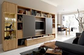 Living Room Cabinets With Doors Furniture Outstanding Living Room Decoration Using Large Oak Wood