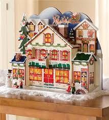 bavarian style santa s visit advent calendar with 24 ornaments