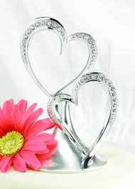 heart cake topper hortense b hewitt wedding accessories sparkling