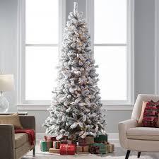 tree white pre lit tree white