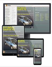 hyundai sante fe 01 06 haynes online manual haynes manuals