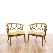 Decorative Armchairs This Pair Of Armchairs Is Featured In A Solid Wood With A Glossy