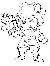 dora pirate coloring pages dora explorer cartoon