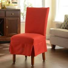 Red Parsons Chairs Sale One Only Orig 105 This Parsons Chair Style Slipcover Is