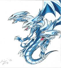 blue eyes ultimate dragon by raineyreaper on deviantart