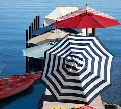 Blue And White Striped Patio Umbrella 8 Best Summer Umbrellas Images On Pinterest Outdoor Spaces
