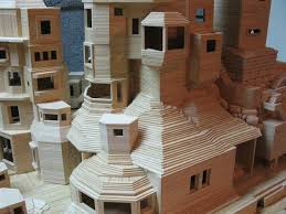 Toothpick House Only Glue And Over 300 000 Toothpicks Have Been Used In This
