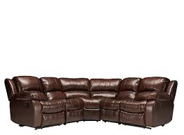 bryant ii 5 pc leather power reclining sectional sofa cognac