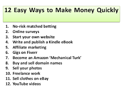 easy way to earn money 12 easy ways to make money quickly l make money fast