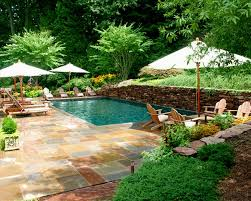 landscape design ideas with pool landscaping ideas on a budget