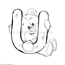 teddy bear alphabet letter coloring pages u2013 getcoloringpages org