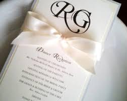 Wedding Reception Program Sample Wedding Reception Etsy