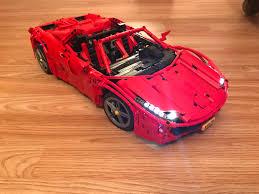 lego technic ferrari lego moc 1767 red spider technic 2014 rebrickable build with