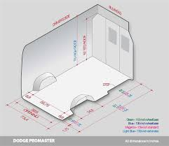 Nissan Nv200 Interior Dimensions Dodge Ram Promaster Interior Fit Guide