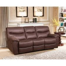 Reclining Sofa With Console by Furniture Of America Aurese Chenille Reclining Sofa Free