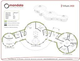 Yurt Floor Plan by Trillium Series Floor Plans Mandala Homes Prefab Round Homes