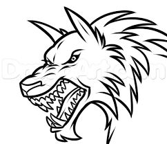 werewolf face drawing lesson step by step werewolves monsters