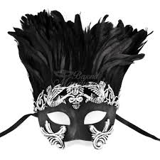 mask with feathers god masquerade mask feathers m31013c shopbeyondstore