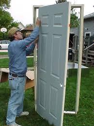 How To Hang A Prehung Exterior Door Homeofficedecoration How To Install Prehung Exterior Door