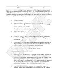 sample separation agreement form ontario best resumes curiculum