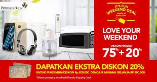 blibli weekend blibli fun weekend deal diskon 75 20 giladiskon indonesia